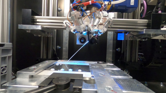 "Successful 3D printing of a ""diagonal rod"" in weightlessness [Image: AIMIS-FYT]"