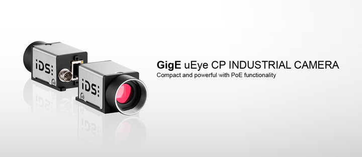 ---IDS industrial camera GigE uEye CP, Gigabit Ethernet camera with Power over Ethernet (PoE)