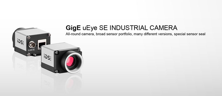 ---IDS GigE uEye SE industrial camera, Ethernet with 60 MB internal image memory