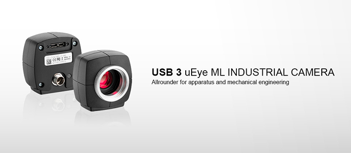 ---IDS industrial camera USB 3 uEye ML with CMOS sensors, high resolution, incredibly fast, very compact, light and robust