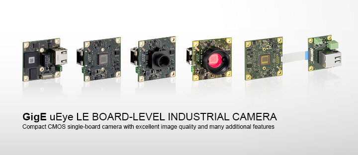 ---IDS GigE uEye LE industrial camera, compact single board CMOS camera as board-level camera