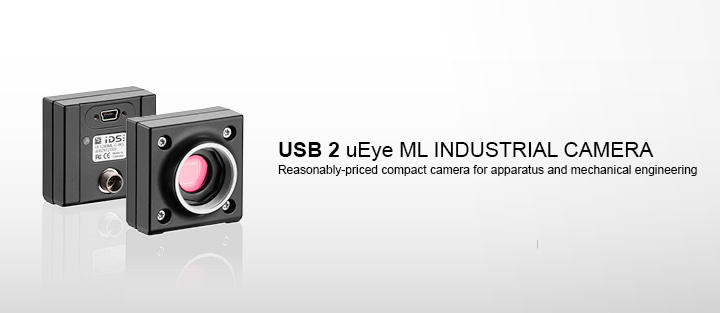 ---IDS industrial camera USB 2 uEye ML in mono, color and NIR version with CMOS sensors
