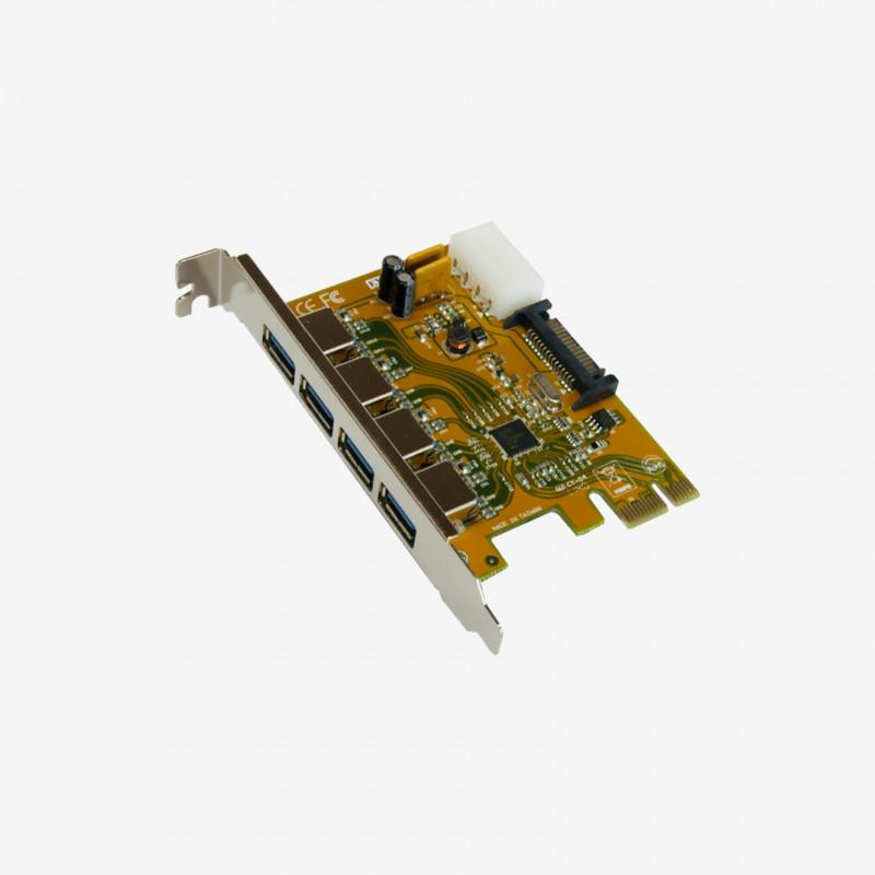 USB 3.0 PCI Express card, 4 ports (EX-11094)