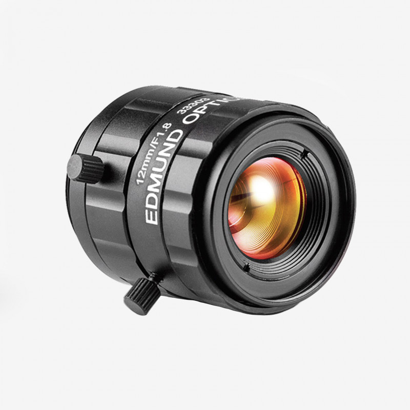 "Objektiv, Edmund, TECHSPEC UC-Series, 12 mm, 1/2"" C-Mount. 1/1.8"". 12 mm. Edmund. AE00179"