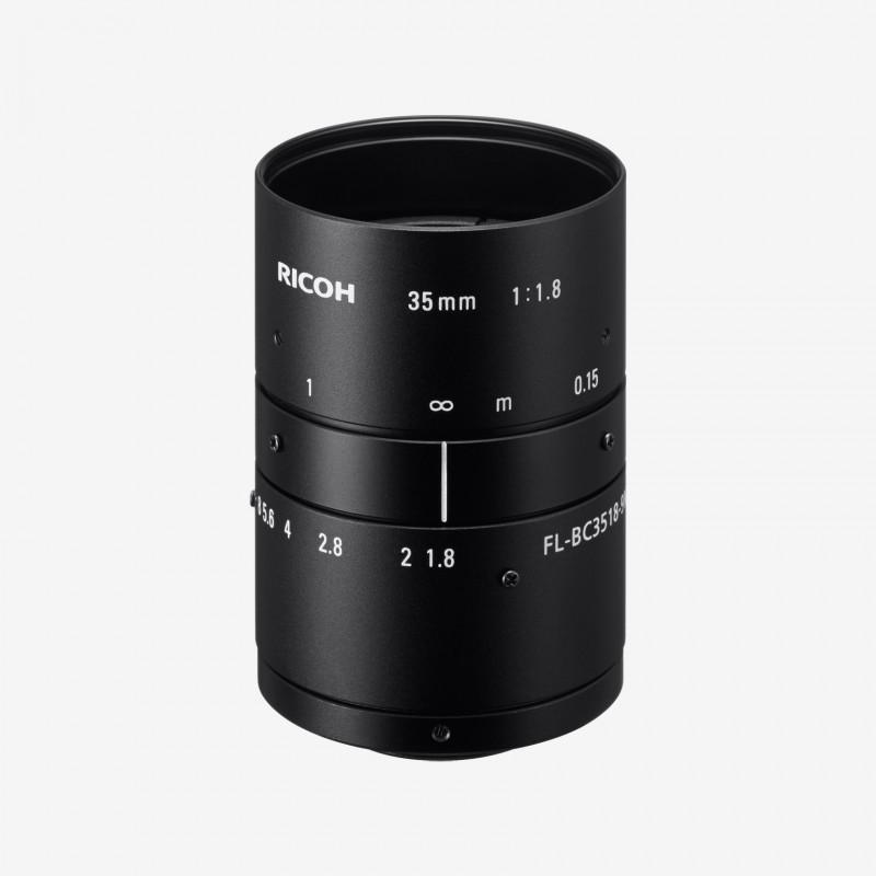 """Lens, RICOH, FL-BC3518-9M, 35 mm, 1"""" C-Mount. 1"""". 35 mm. Ricoh. AE00148"""