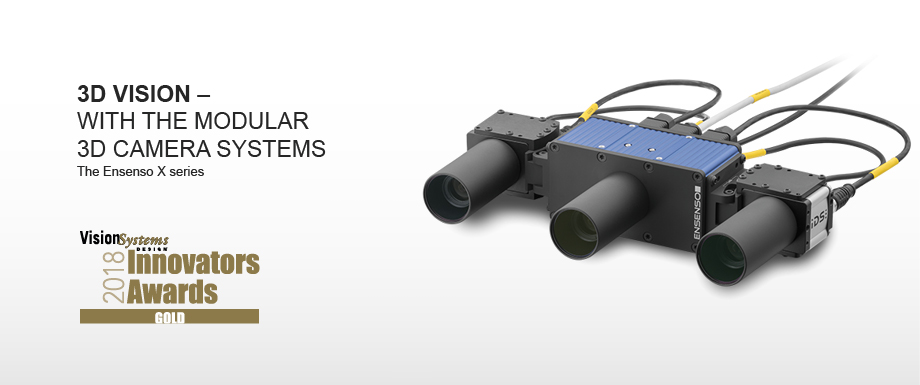 3D Vision – with the modular 3D camera systems. The Ensenso X series